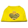 Mirage Pet Products Zebra Heart Rhinestone Dog Shirt Yellow XL (16)