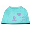 Mirage Pet Products Peace Love Hope Breast Cancer Rhinestone Pet Shirt Aqua XXXL (20)