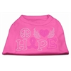 Mirage Pet Products Peace Love Hope Breast Cancer Rhinestone Pet Shirt Bright Pink XXL (18)