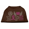Mirage Pet Products Peace Love Hope Breast Cancer Rhinestone Pet Shirt Brown XS (8)