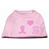 Mirage Pet Products Peace Love Hope Breast Cancer Rhinestone Pet Shirt Light Pink XXXL (20)