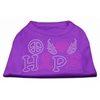 Mirage Pet Products Peace Love Hope Breast Cancer Rhinestone Pet Shirt Purple XS (8)