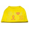 Mirage Pet Products Peace Love Hope Breast Cancer Rhinestone Pet Shirt Yellow XXL (18)