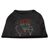 Mirage Pet Products Hot Air Balloon Rhinestone Shirts Black XXL (18)