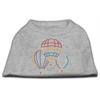 Mirage Pet Products Hot Air Balloon Rhinestone Shirts Grey XL (16