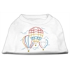 Mirage Pet Products Hot Air Balloon Rhinestone Shirts White XL (16