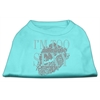 Mirage Pet Products I'm Too Sexy Rhinestone Shirts Aqua XS (8)