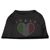 Mirage Pet Products Italy Rhinestone Shirts Black XS (8)