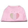 Mirage Pet Products Italy Rhinestone Shirts Light Pink XXXL(20)