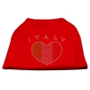 Mirage Pet Products Italy Rhinestone Shirts Red XXXL(20)