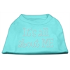 Mirage Pet Products It's All About Me Rhinestone Shirts Aqua L (14)