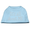 Mirage Pet Products It's All About Me Rhinestone Shirts Baby Blue L (14)