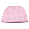 Mirage Pet Products It's All About Me Rhinestone Shirts Light Pink XL (16)