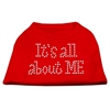 Mirage Pet Products It's All About Me Rhinestone Shirts Red XS (8)