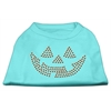 Mirage Pet Products Jack O' Lantern Rhinestone Shirts Aqua XXXL(20)