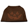 Mirage Pet Products Jack O' Lantern Rhinestone Shirts Brown XXL (18)