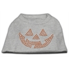 Mirage Pet Products Jack O' Lantern Rhinestone Shirts Grey XXL (18)