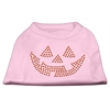Mirage Pet Products Jack O' Lantern Rhinestone Shirts Light Pink XL (16)