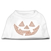 Mirage Pet Products Jack O' Lantern Rhinestone Shirts White XXXL(20)