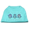 Mirage Pet Products Let It Snow Penguins Rhinestone Shirt Aqua XXXL(20)