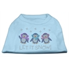 Mirage Pet Products Let It Snow Penguins Rhinestone Shirt Baby Blue S (10)
