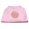 Mirage Pet Products Lil' Punkin' Rhinestone Shirts Light Pink XXL (18)