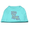 Mirage Pet Products Louisiana Rhinestone Shirts Aqua XXXL(20)