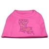 Mirage Pet Products Louisiana Rhinestone Shirts Bright Pink XXL (18)