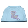 Mirage Pet Products Louisiana Rhinestone Shirts Baby Blue XXL (18)