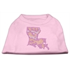 Mirage Pet Products Louisiana Rhinestone Shirts Light Pink XXXL(20)