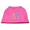 Mirage Pet Products Technicolor Love Rhinestone Pet Shirt Bright Pink XL (16)