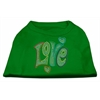 Mirage Pet Products Technicolor Love Rhinestone Pet Shirt Emerald Green XS (8)
