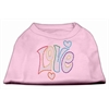 Mirage Pet Products Technicolor Love Rhinestone Pet Shirt Light Pink XXL (18)