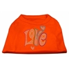 Mirage Pet Products Technicolor Love Rhinestone Pet Shirt Orange XS (8)