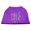 Mirage Pet Products Technicolor Love Rhinestone Pet Shirt Purple XL (16)