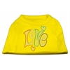 Mirage Pet Products Technicolor Love Rhinestone Pet Shirt Yellow XL (16)