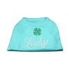 Mirage Pet Products Lucky Rhinestone Shirts Aqua M (12)
