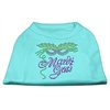 Mirage Pet Products Mardi Gras Rhinestud Shirt Aqua XXXL(20)
