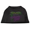 Mirage Pet Products Mardi Gras Rhinestud Shirt Black XXXL(20)