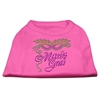 Mirage Pet Products Mardi Gras Rhinestud Shirt Bright Pink XXXL(20)