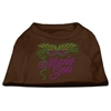 Mirage Pet Products Mardi Gras Rhinestud Shirt Brown Lg (14)