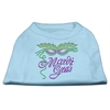 Mirage Pet Products Mardi Gras Rhinestud Shirt Baby Blue XXXL(20)
