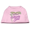 Mirage Pet Products Mardi Gras Rhinestud Shirt Light Pink XXL (18)