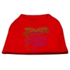 Mirage Pet Products Mardi Gras Rhinestud Shirt Red XS (8)