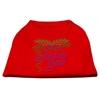 Mirage Pet Products Mardi Gras Rhinestud Shirt Red XXXL(20)