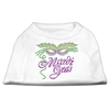 Mirage Pet Products Mardi Gras Rhinestud Shirt White XXXL(20)