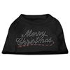Mirage Pet Products Merry Christmas Rhinestone Shirt Black XXXL(20)