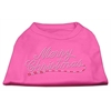 Mirage Pet Products Merry Christmas Rhinestone Shirt Bright Pink XXXL(20)