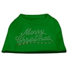 Mirage Pet Products Merry Christmas Rhinestone Shirt Emerald Green XL (16)