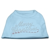 Mirage Pet Products Merry Christmas Rhinestone Shirt Baby Blue XXXL(20)